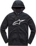 Alpinestars Women's AGELESS Fleece Zip-Up Hoody Sweatshirt (Black/White)