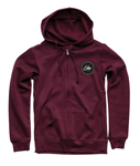 Thor MX Motocross Women's Runner Zip-Up Hoody Sweatshirt (Maroon)