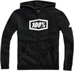 100% MX Motocross Youth SYNDICATE Zip-Up Hoodie Sweatshirt (Black)