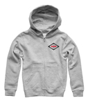 Thor MX Motocross Boys Namesake Zip-Up Hoody Sweatshirt (Heather Gray)
