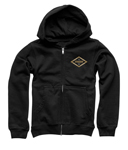 Thor MX Motocross Boys Namesake Zip-Up Hoody Sweatshirt (Black)
