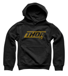 Thor MX Motocross Youth Lined Pullover Hoodie Sweatshirt (Black)