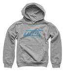 Thor MX Motocross Youth Lined Pullover Hoodie Sweatshirt (Gray)