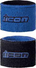 ICON Motorcycle Brake/Clutch Reservoir Sock/Wristbands (Blue)