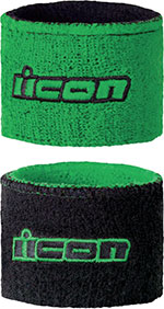 ICON Motorcycle Brake/Clutch Reservoir Sock/Wristbands (Green)
