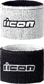 ICON Motorcycle Brake/Clutch Reservoir Sock/Wristbands (White)