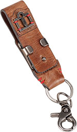 ICON 1000 Leather Belt Loop Keychain Key FOB (Brown)
