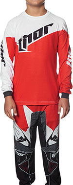 THOR MX Motocross 2016 Kids TILT 2-piece Pajamas PJS (Red)
