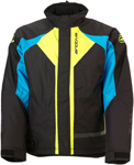 Arctiva 2020 PIVOT 3 Insulated Waterproof Jacket (Black/Blue/Hi-Viz)