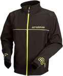 Arctiva Snow Snowmobile Men's Wind/Water/Abrasion Resistant Soft Shell Mid-Layer Jacket (Black/Hi-Viz)