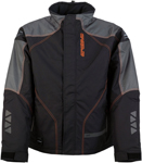 Arctiva Snow Snowmobile Men's PIVOT 2 Insulated Waterproof Jacket (Black/Orange)
