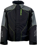 Arctiva Snow Snowmobile Men's PIVOT 2 Insulated Waterproof Jacket (Black/Hi-Viz Yellow)
