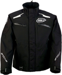 Arctiva Snow Snowmobile Men's SUMMIT Waterproof Shell Jacket (Black/White)