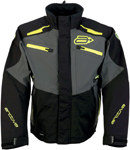 Arctiva Snow Snowmobile Men's SUMMIT Waterproof Shell Jacket (Black/Grey/Hi-Viz)