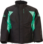 Arctiva 2020 PIVOT 3 Insulated Waterproof Jacket (Black/Mint)