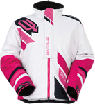 ARCTIVA Snow Snowmobile Women's 2017 COMP Insulated Jacket (White/Pink)