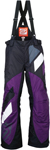 ARCTIVA Snow Snowmobile Women's 2017 COMP Insulated Bibs/Pants (Black/Purple)