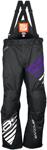 Arctiva Snow Snowmobile Women's 2018 COMP Insulated Bibs/Pants (Black/Purple)