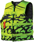 Slippery Wetsuits - Impulse Nylon Watercraft Vest / Life Jacket (Black/Yellow)