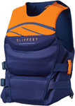 Slippery Wetsuits - Array Side Entry Neo Watercraft Vest / Life Jacket (Navy Blue/Orange)