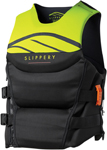 Slippery Wetsuits - Array Side Entry Neo Watercraft Vest / Life Jacket (Black/Lime Green)