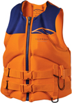 Slippery Wetsuits - Surge Neo Watercraft Vest / Life Jacket (Orange/Navy Blue)