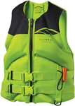 Slippery Wetsuits - Surge Neo Watercraft Vest / Life Jacket (Lime Green/Black)