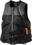 Slippery Wetsuits - Surge Neo Watercraft Vest / Life Jacket (Black/Gray)