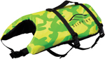 Slippery Wetsuits - Pet Watercraft Vest / Life Jacket (Yellow/Green)