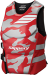 Slippery Wetsuits - Men's ARRAY Side Entry Neoprene Watercraft Vest / Life Jacket (Red/Silver)