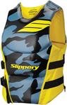 Slippery Wetsuits - Men's ARRAY Side Entry Neoprene Watercraft Vest / Life Jacket (Black/Blue/Yellow)