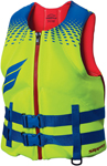 Slippery Wetsuits - Men's SURGE Neoprene Watercraft Vest / Life Jacket (Blue/Green/Red)