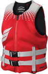 Slippery Wetsuits - Men's SURGE Neoprene Watercraft Vest / Life Jacket (Red/Silver)