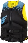 Slippery Wetsuits - Men's SURGE Neoprene Watercraft Vest / Life Jacket (Black/Blue/Yellow)