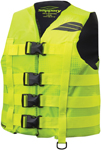 Slippery Wetsuits - Men's HYDRO Nylon Watercraft Vest / Life Jacket (Yellow/Black)