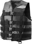 Slippery Wetsuits - Men's HYDRO Nylon Watercraft Vest / Life Jacket (Black/Gray)