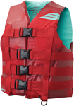 Slippery Wetsuits - Men's HYDRO Nylon Watercraft Vest / Life Jacket (Red/Aqua Blue)