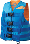 Slippery Wetsuits - Men's HYDRO Nylon Watercraft Vest / Life Jacket (Blue/Orange)
