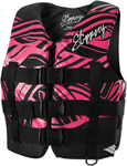 SLIPPERY Wetsuits - Women's Ray Watercraft Vest / Life Jacket (Black/Pink)