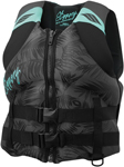 Slippery Wetsuits - Women's ELECTRA Neoprene Watercraft Vest / Life Jacket (Black/Mint Green)