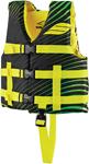 SLIPPERY Wetsuits - Kids Child Hydro Watercraft Vest / Life Jacket (Green/Yellow)