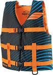 SLIPPERY Wetsuits - Kids Youth Hydro Watercraft Vest / Life Jacket (Blue/Orange)