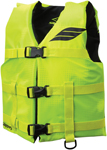 Slippery Wetsuits - Kids Youth HYDRO Nylon Watercraft Vest / Life Jacket (Yellow/Black)