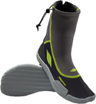 Slippery Wetsuits - AMP Watercraft Water Boots (Black/Green)