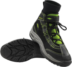 Slippery Wetsuits - LIQUID RACE Watercraft Water Boots (Black/Green)