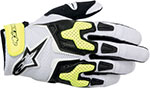 ALPINESTARS SMX-3 Air Motorcycle Gloves (White/Black/Yellow)