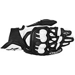 Alpinestars GPX Leather Motorcycle Gloves (Black/White)