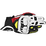 ALPINESTARS GPX Leather Motorcycle Gloves (Black/Red/Yellow)