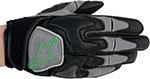 ALPINESTARS Scheme Kevlar Motorcycle Gloves (Black/Green)