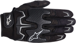 ALPINESTARS Fighter Mesh Short Cuff Touch Screen Motorcycle Gloves (Black)